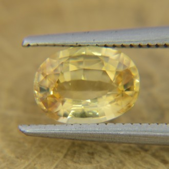 Природный желтый сапфир, овал 7,9х5,8 мм, 1,47 карат ($600,00)