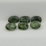 Набор натуральных зеленых сапфиров - овалы 6х4 мм, 3.61 карата ($253.00)