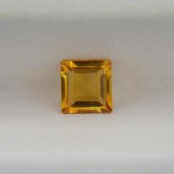 Цитрин квадрат 4,2х4,2 мм, 0,35 карата ($2,00)