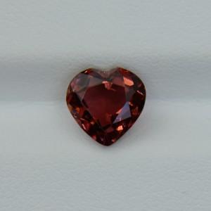 Оранжево-розовый турмалин - сердце 8х8 мм, 2.35 карата ($188,00)