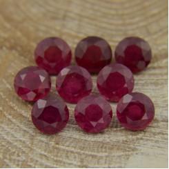 Лот рубинов - круги 6 мм, 9 шт., 8,96 карат ($358,00)