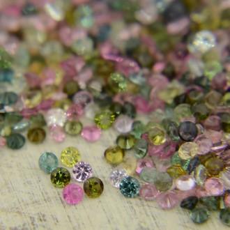 Разноцветные турмалины - круги 1,75 мм ($1,12 за штуку)