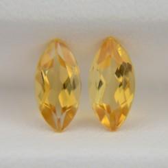 Пара цитринов - маркизы 8х4 мм, 1,13 карата ($6,00)