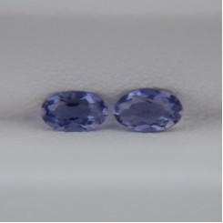 Пара иолитов - овалы 5х3 мм, 0,36 карат ($3,60)