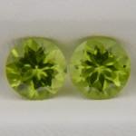 Хризолиты круги 7 мм, 2,86 карат ($26,00)