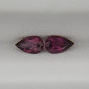 Пара родолитов - груши 5х3 мм, 0,53 карата ($4,25)