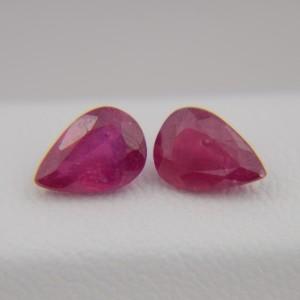 Рубины груши 7х5 мм, 1,65 карата ($46,00)