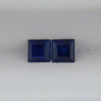 Пара сапфиров - квадраты 3 мм, 0,41 карат ($35,00)