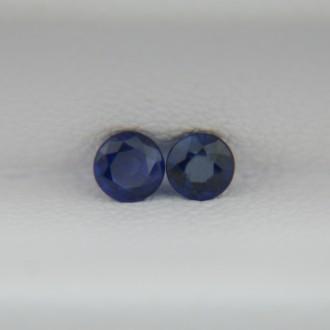 Пара сапфиров, круги 3 мм, 0,33 карата ($45,00)
