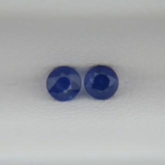 Пара сапфиров, круги 3 мм, 0,31 карат ($28,00)