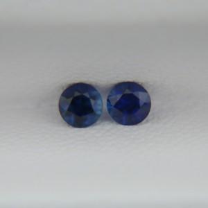 Пара сапфиров - круги 3 мм, 0,25 карат ($60,00)