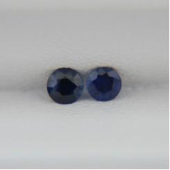 Пара сапфиров - круги 3 мм, 0,23 карата ($34,00)
