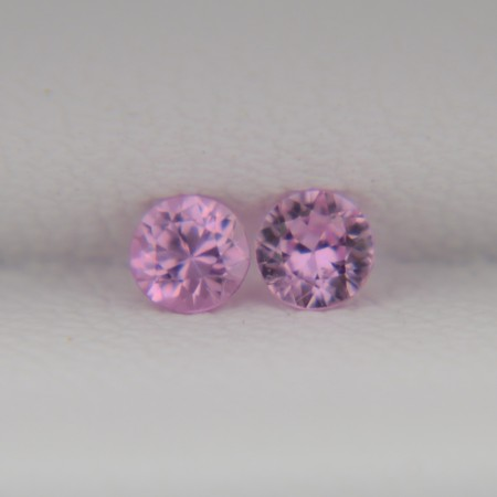 Пара розовых сапфиров - круги 2,8 мм, 0,22 карата ($22,00)
