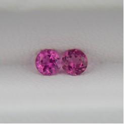 Пара розовых турмалинов - круги 3 мм, 0,25 карата ($13,00)